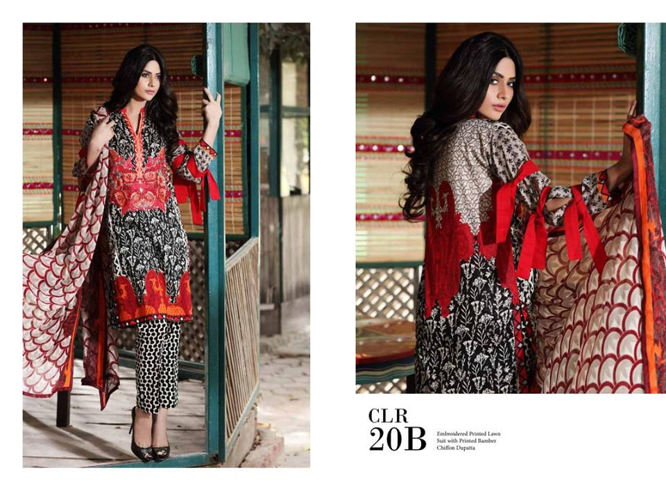Charizma Range Embroidered Lawn-19