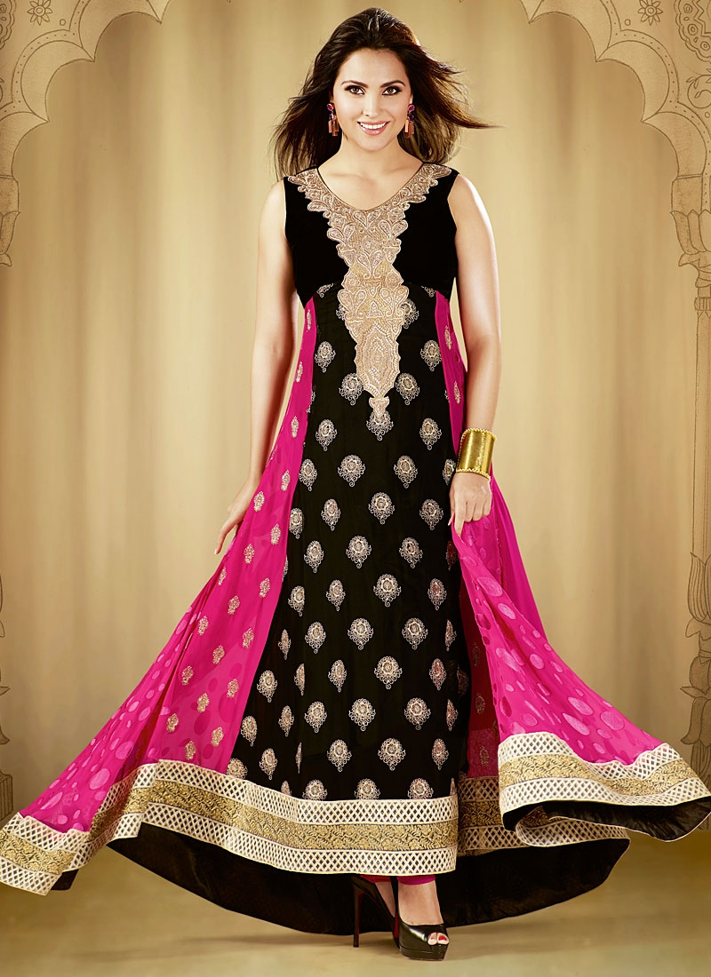 black anarkali dresses designs new collection wwwimgkid