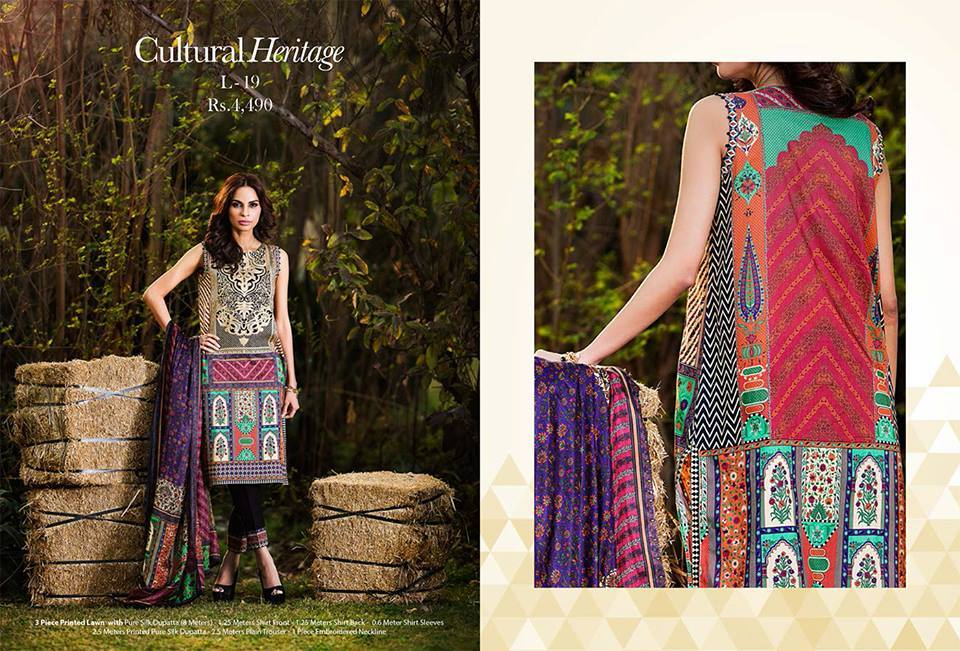 Lime Light Unstitched Lawn-13