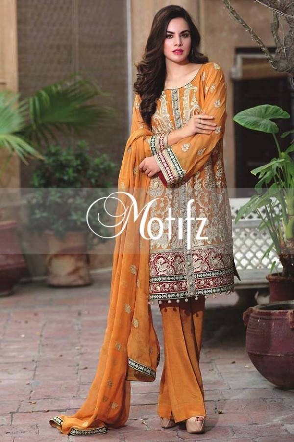 Motifz Embroidered Crinkle Chiffon-Eid-Collection-14