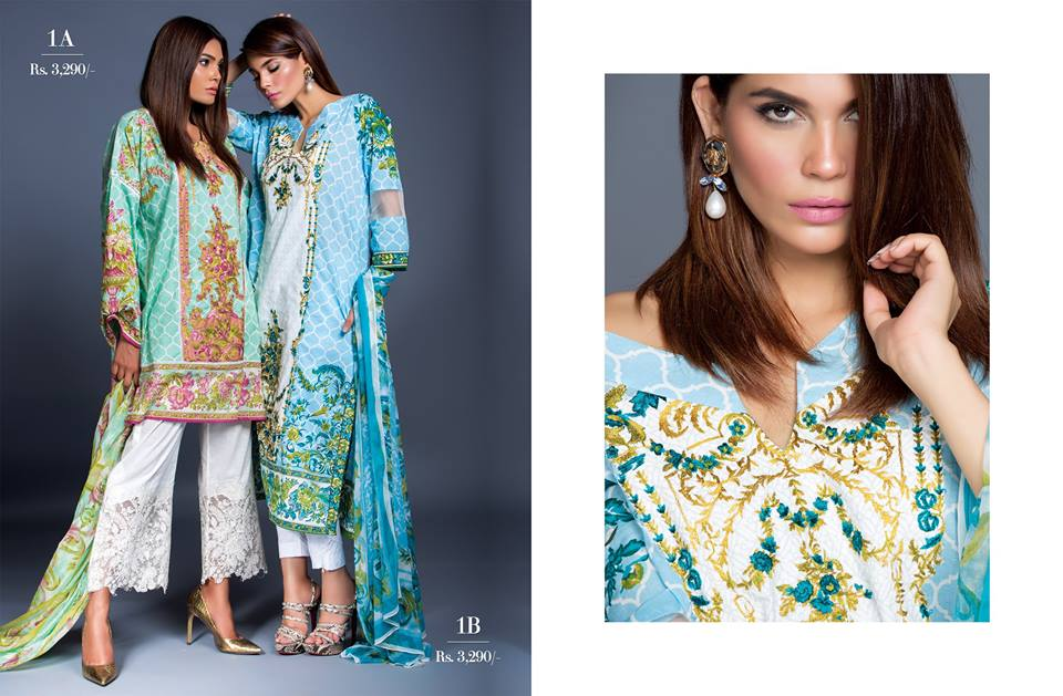 Muzlin Embroidered Unstitched Collection - Vol 2-13