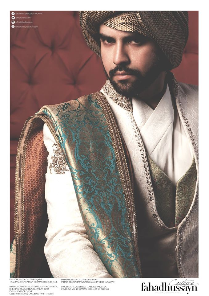 Fahad Hussayn-groom-dress-