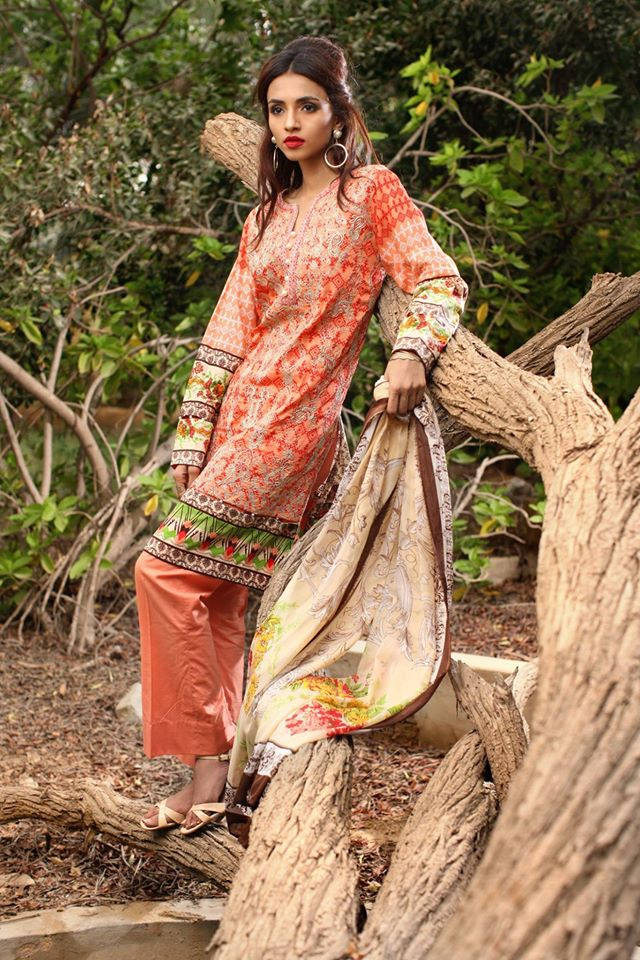 Feminine Designer Embroidered lawn-18