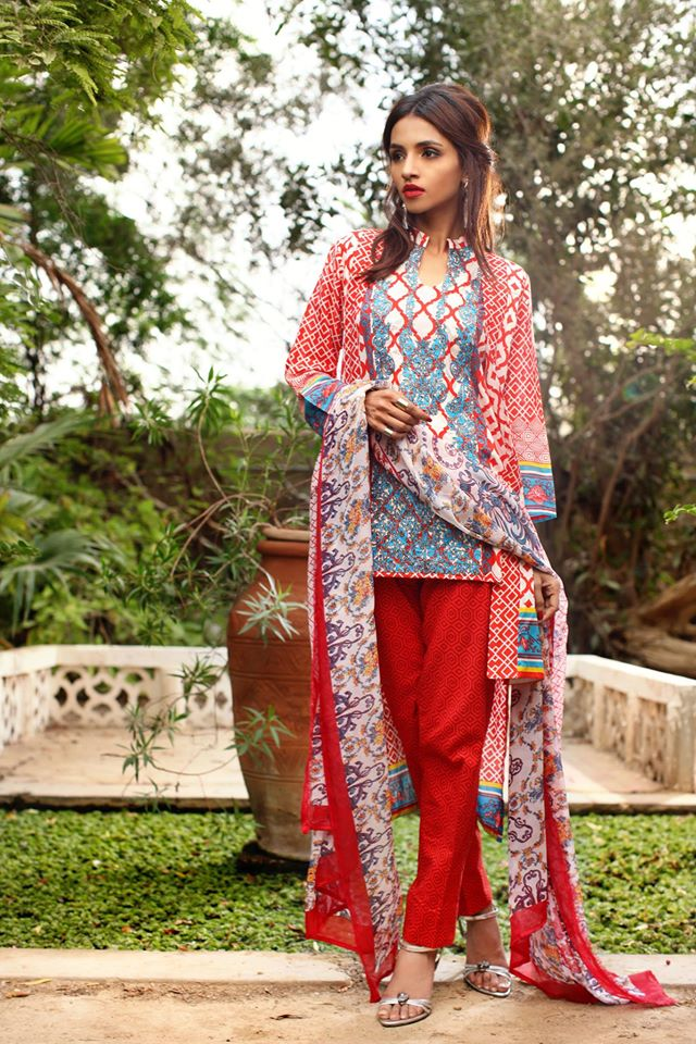 Feminine Designer Embroidered lawn-19