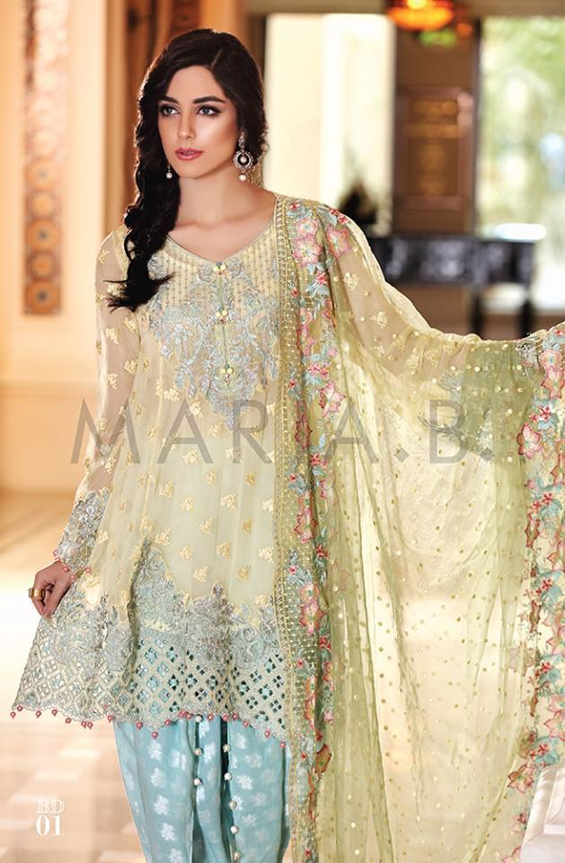 Embroidered eid chiffon collection by maria b 2016 Fashion new style clothes
