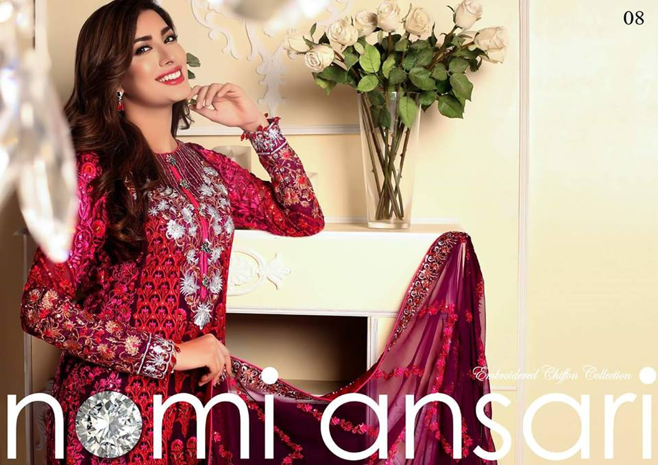 Nomi Ansari Embroidered Chiffon Collection-16