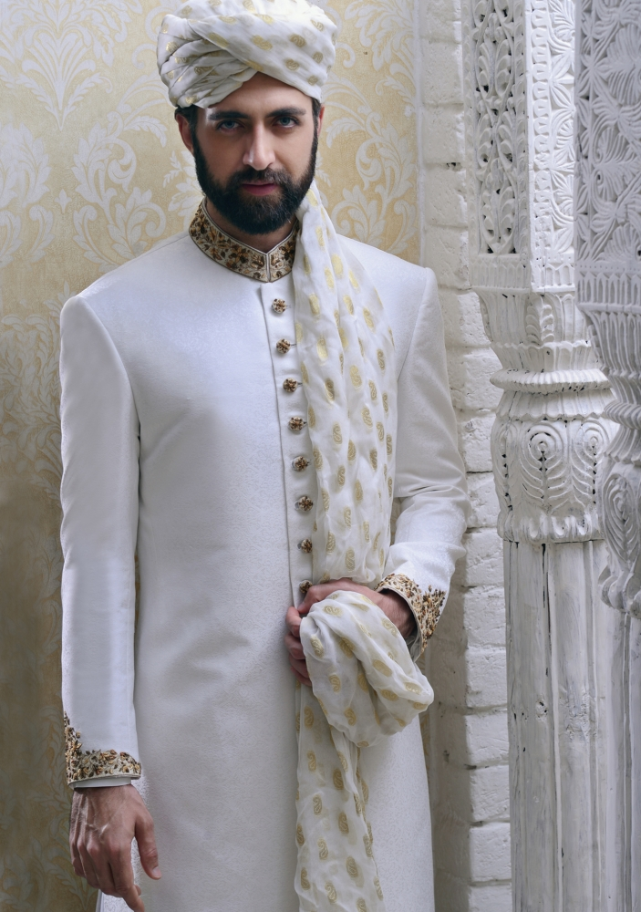 Simple Elegant Mens Wedding Sherwani Collection By Amir Adnan | PK Vogue