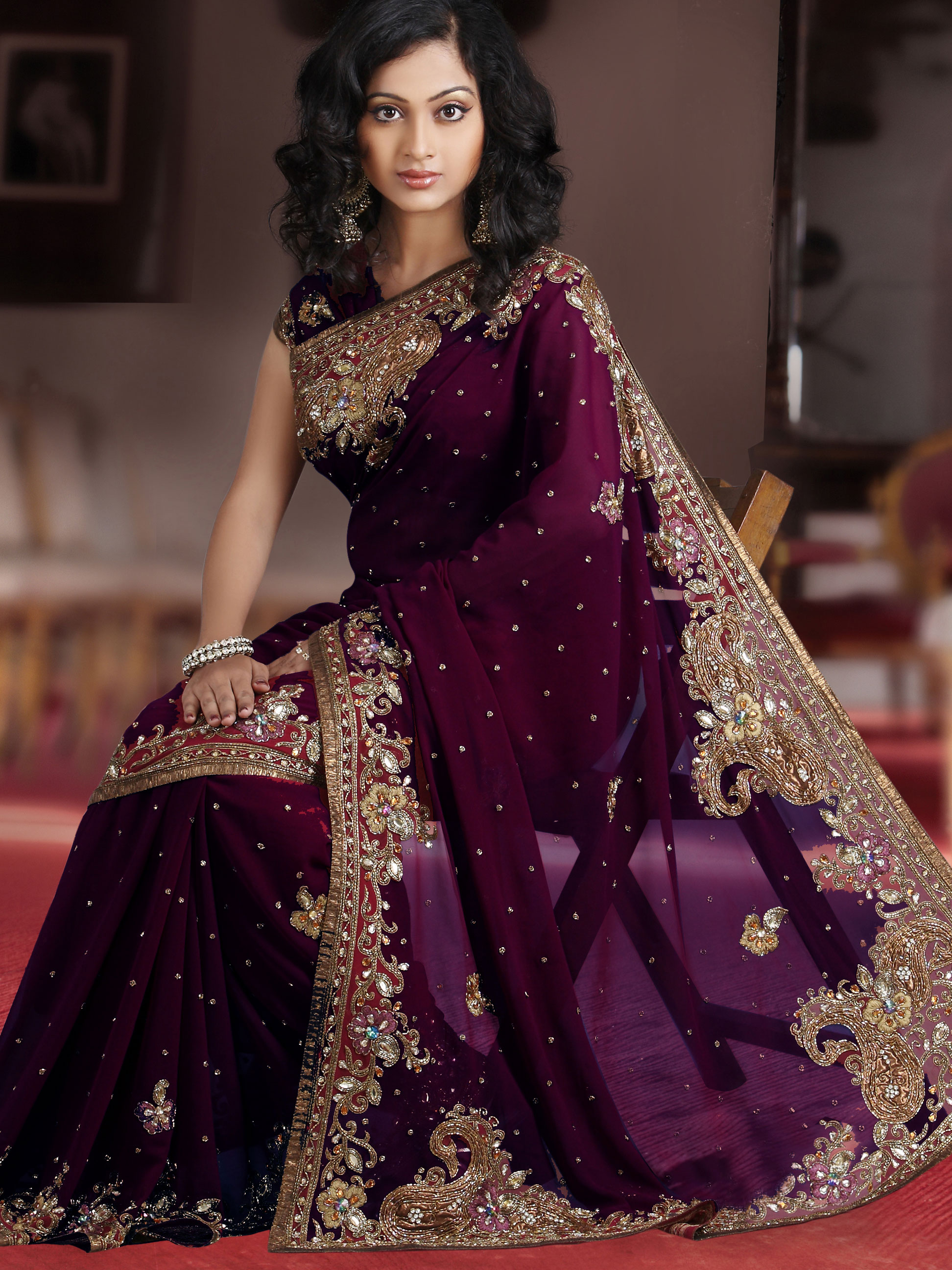 Wedding Saree Designs 2017 | Indian Traditional Wedding ...