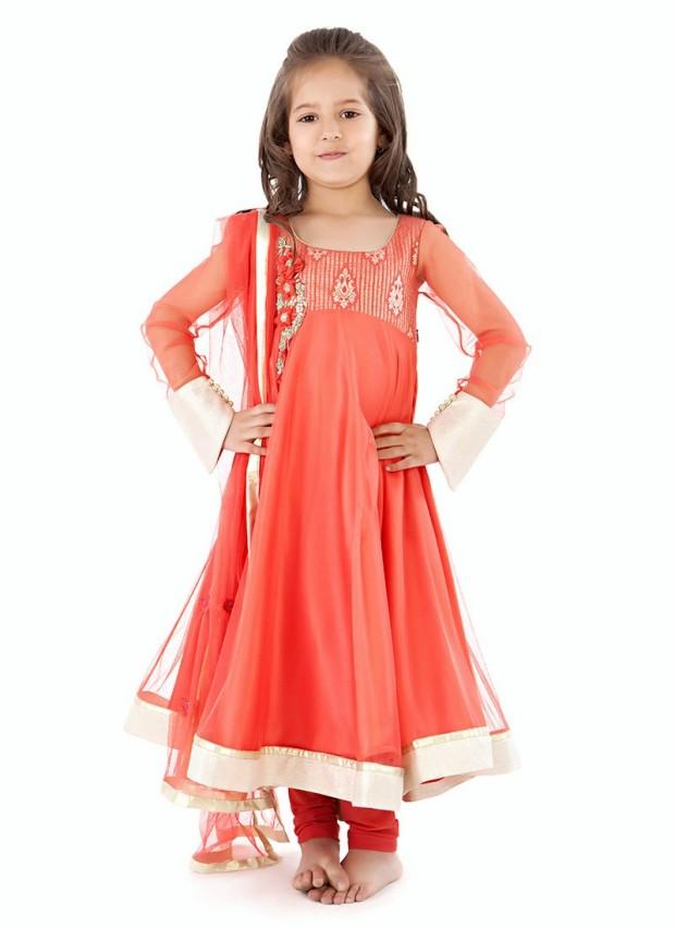 22aa246637e Stylish Anarkali Frocks Designs For Baby Girls 2017 - PK Vogue