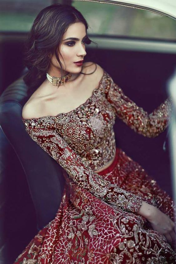 2f22bfcec Latest Pakistani   Indian Bridal Lehenga And Bridal Gowns 2017 - PK ...