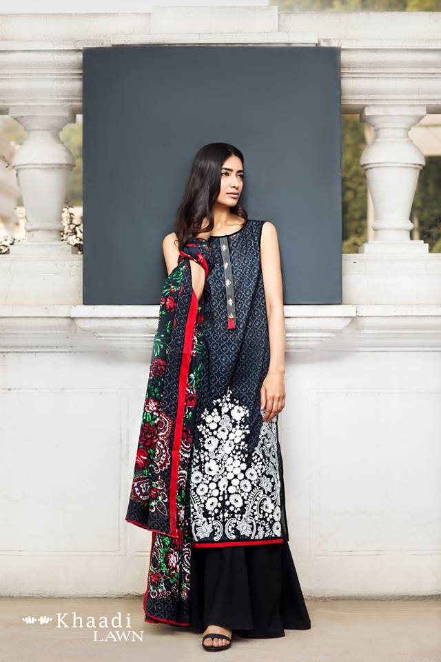 e6e4375235 Pair any dress this fancy and sophisticated Khaadi 2017 lawn collection  with soft make-up, a simple hair do, and of course your best heels!