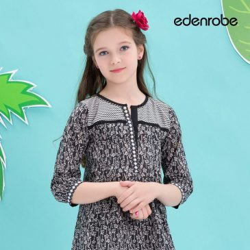 2521191336bc Latest Little Girls Summer Dresses By Edenrobe 2017 - PK Vogue