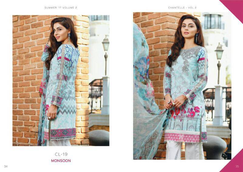Chantelle by Baroque Embroidered Chiffon Collection 2016 with Price