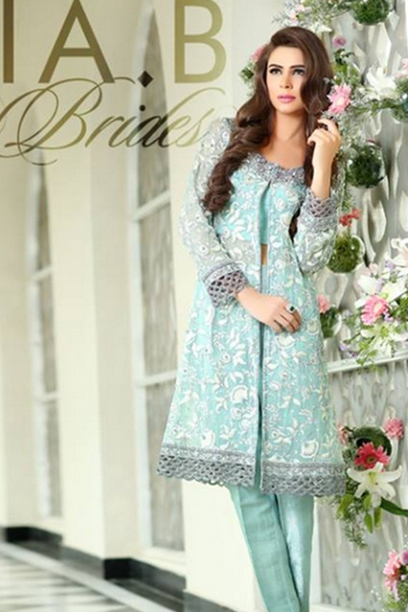 Pakistani party and wedding wear dresses 2017 by maria b for Pakistani dresses for wedding parties