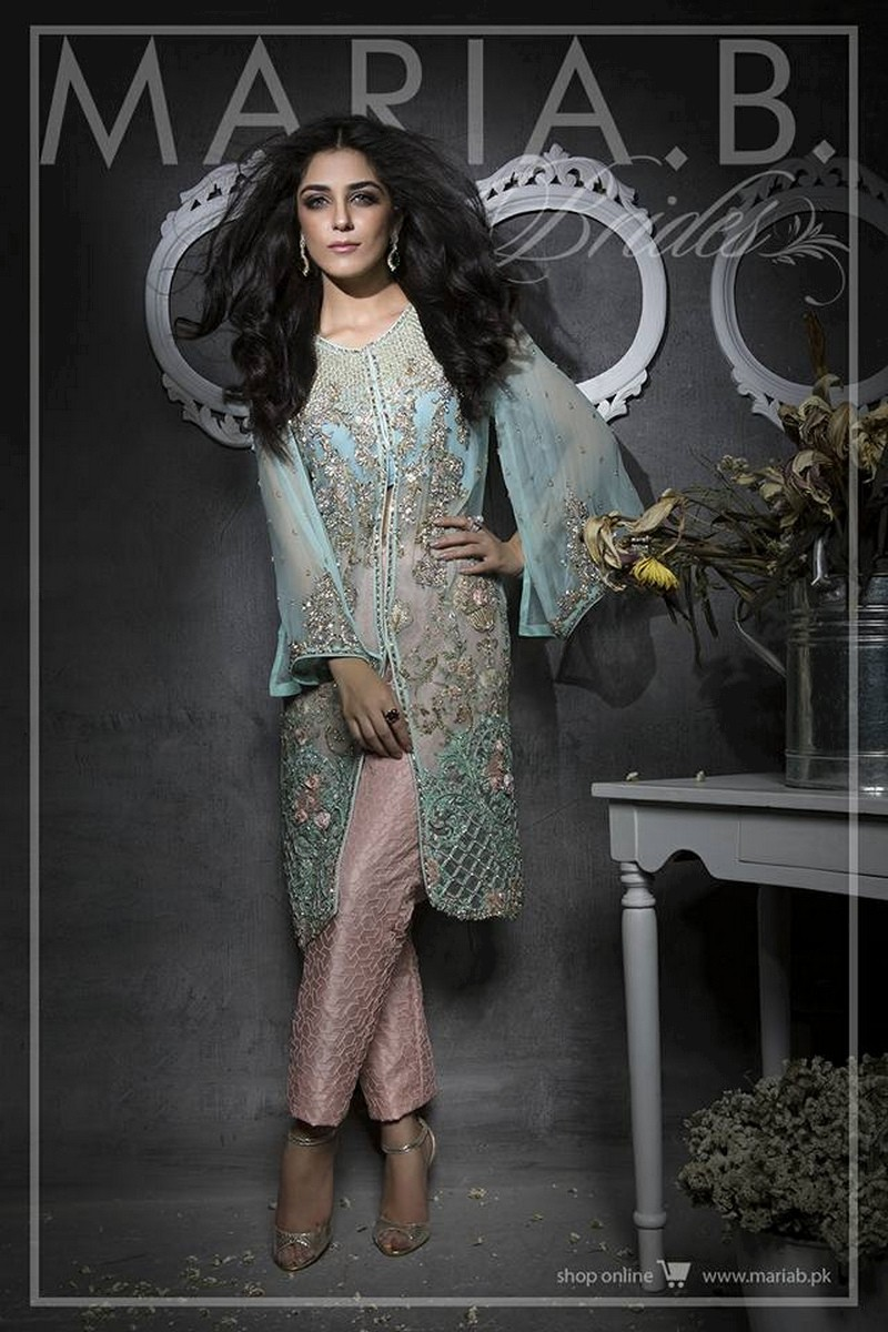 Pakistani Party And Wedding Wear Dresses 2017 By Maria B