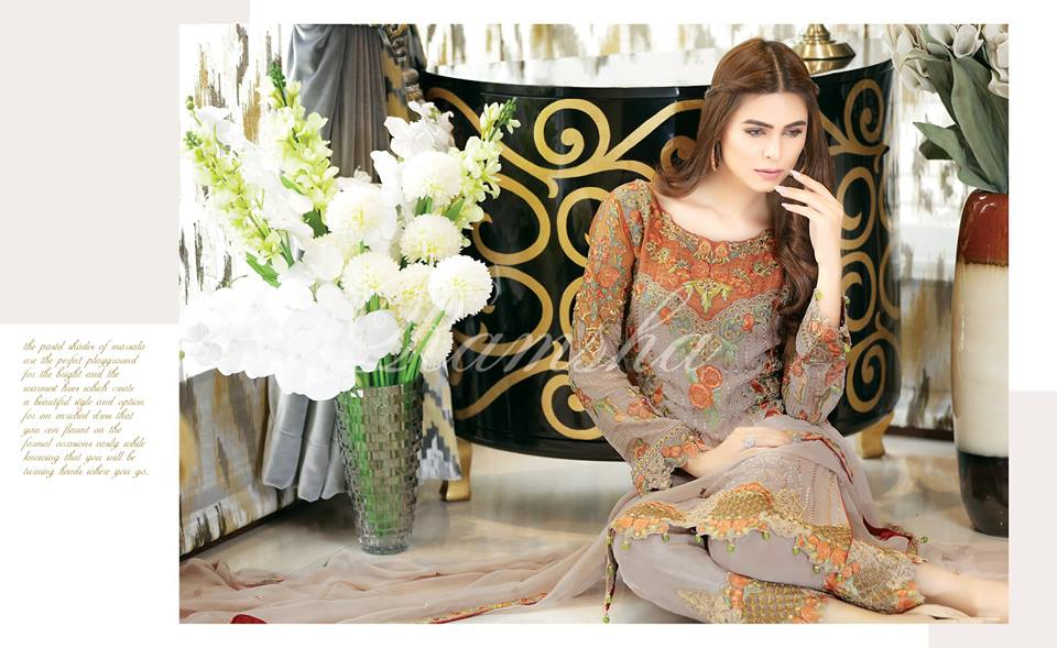 Ramsha fashion fabrics and zari collection 70