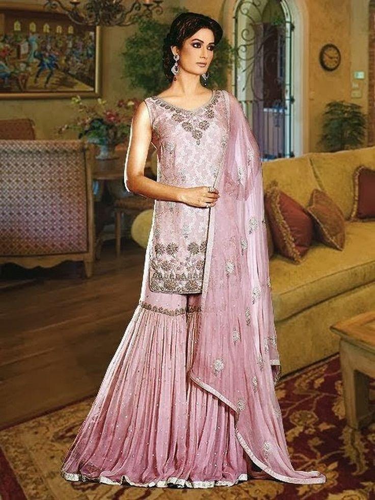 Latest Wedding Bridal Sharara Designs 13