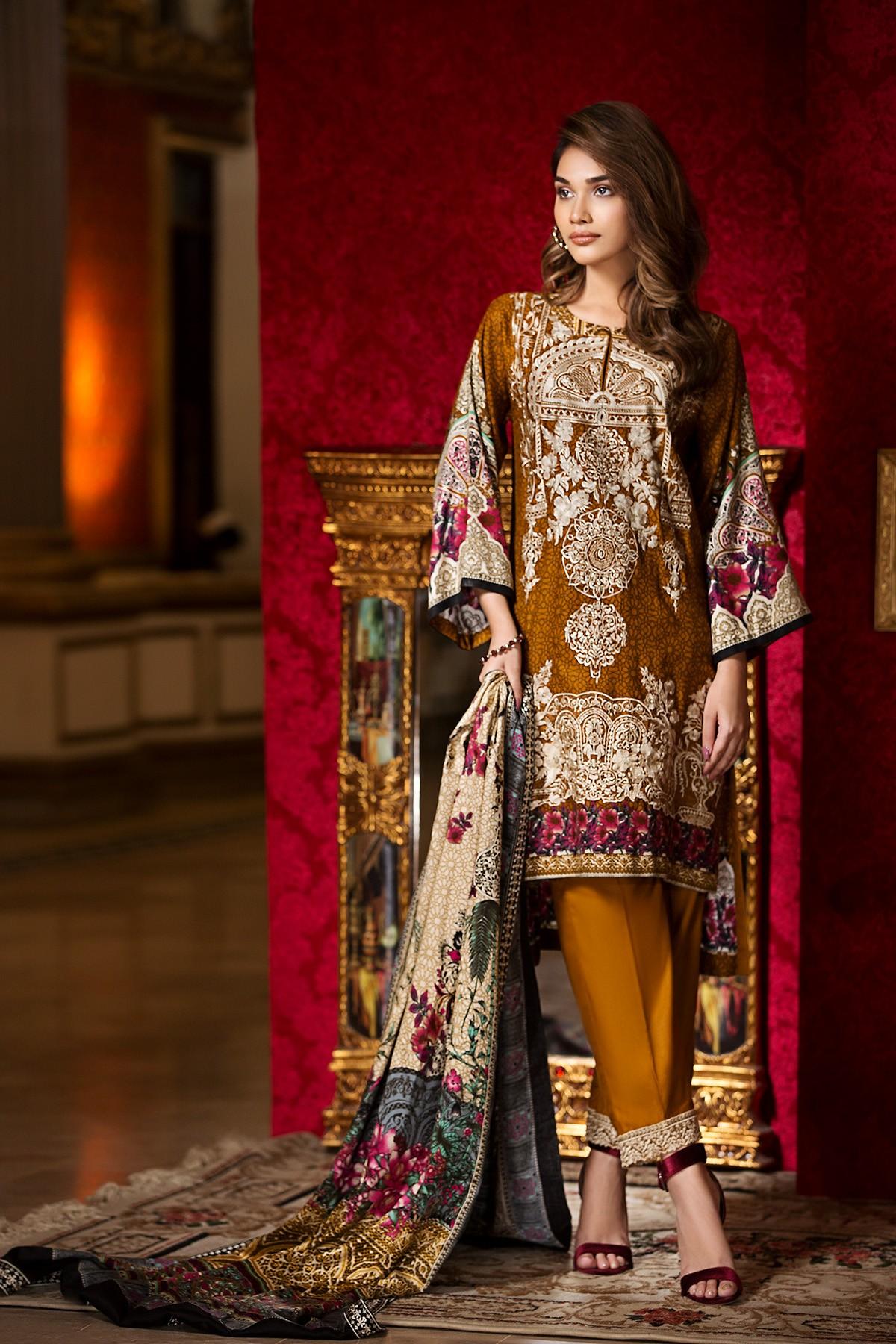 Pakistani style dresses 2018 winter