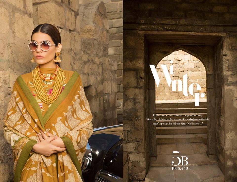 1580519b91 Sana Safinaz Winter Shawl Collection 2017 - PK Vogue