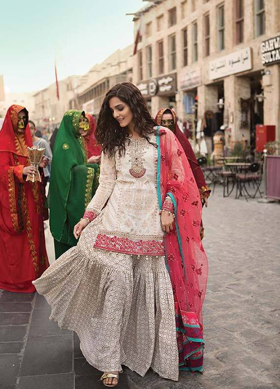 Latest Collection Maria B Embroidered Lawn 2018 Pk Vogue