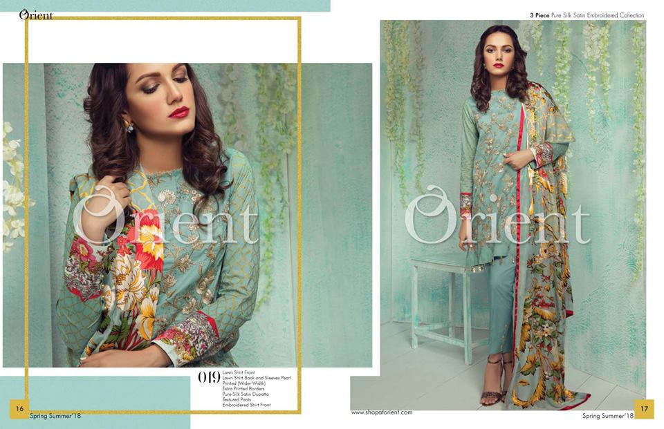 Orient Summer Lawn Collection 2018