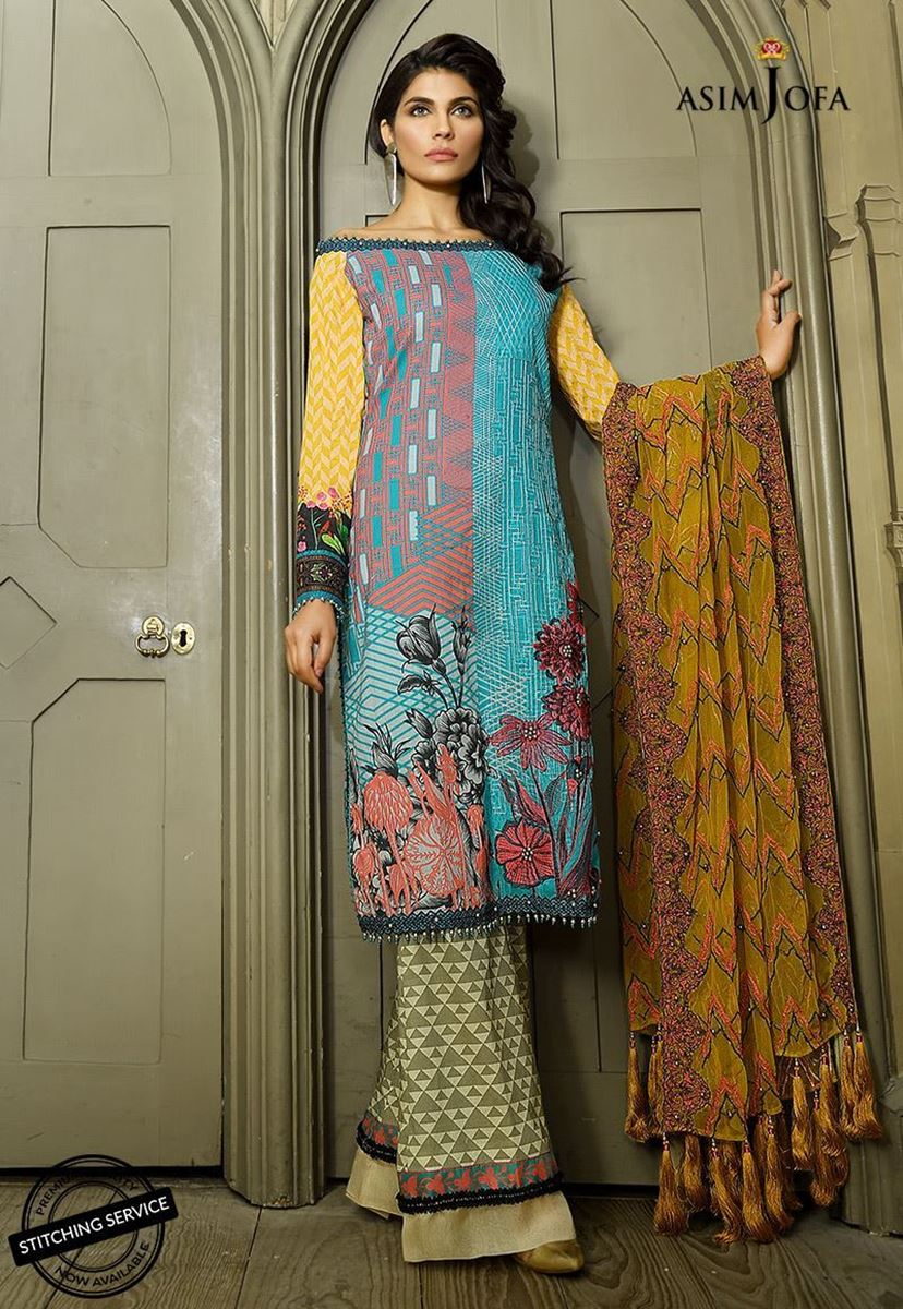 First Look Asim Jofa Lawn Collection 2018 Pk Vogue