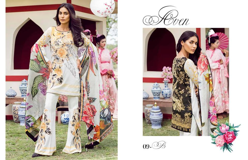 First Look Tena Durrani Luxury Lawn Collection 2018
