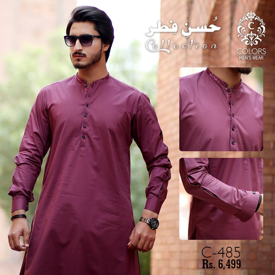 d34cfba056 The post Husn-E-Fitr Men Eid Kurta Collection 2018 By Colors appeared first  on PK Vogue.