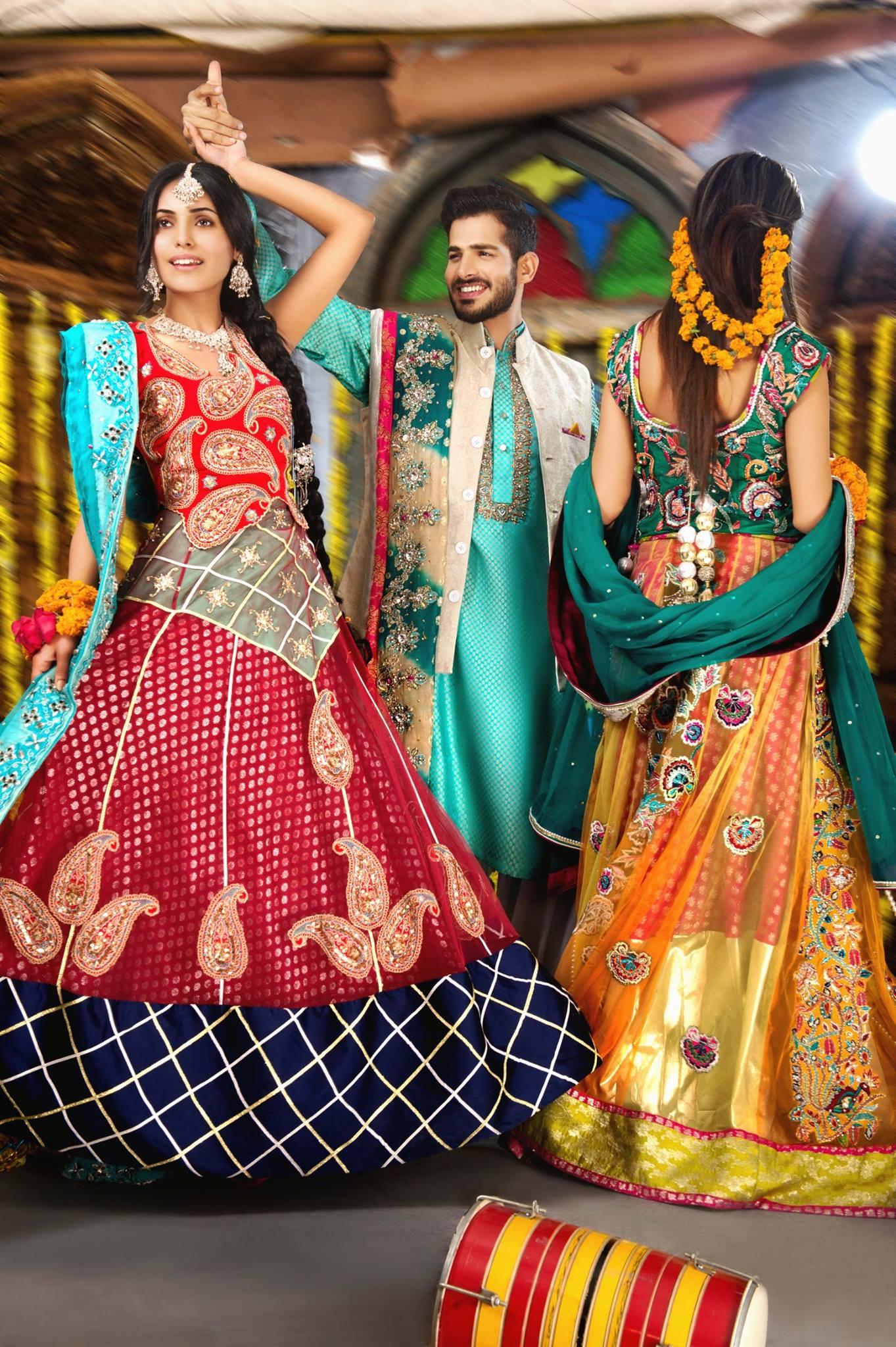 Latest Mehndi Dresses 2019 By Amna Ajmal \u2013 2020 Online