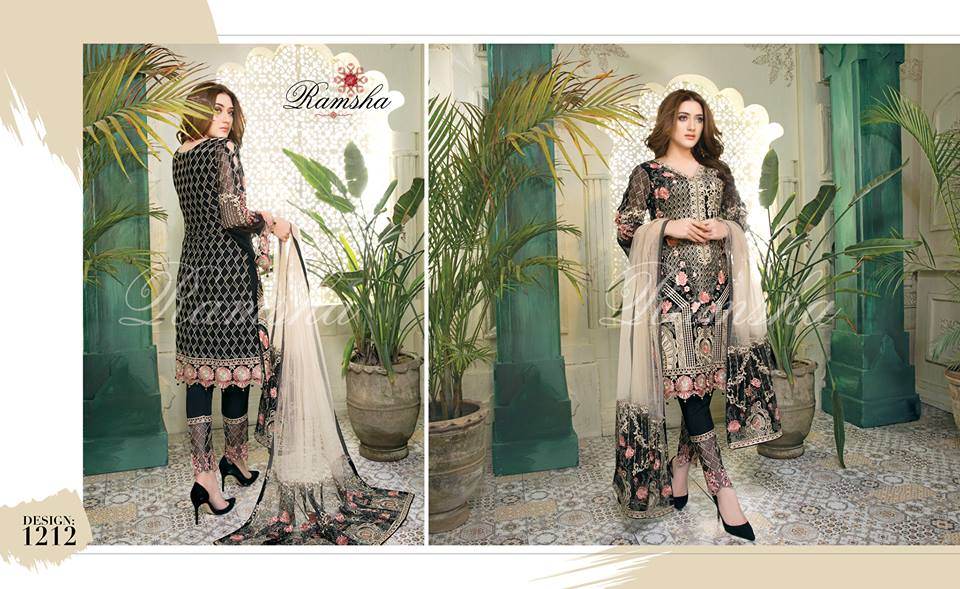 Ramsha House Of Glamour Chiffon Collection 2018