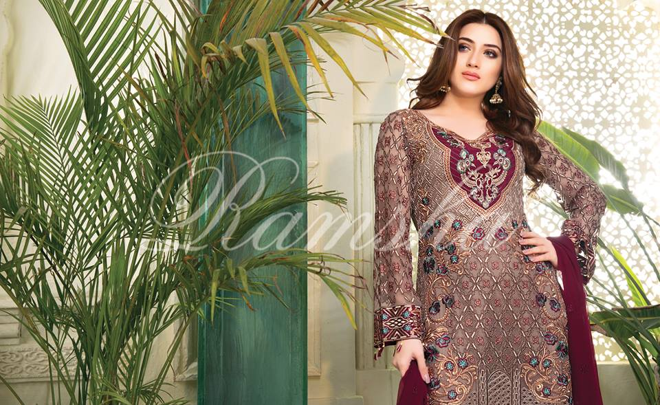 Ramsha House Of Glamour Chiffon Collection 2018-1