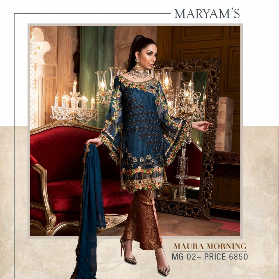 491529b11d Maryam's Gold Embroidered Chiffon Collection 2018 - PK Vogue