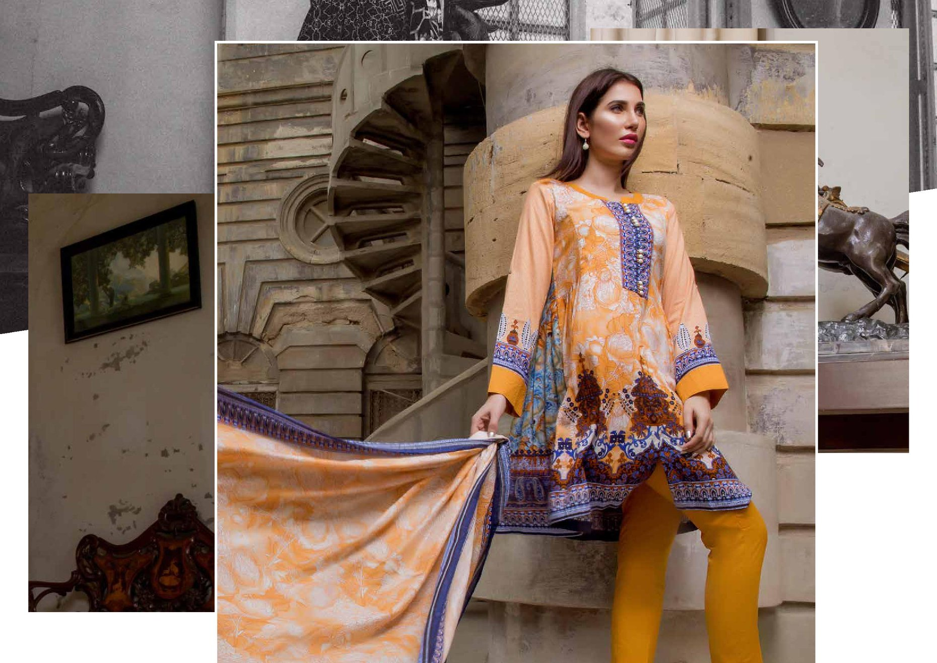 0654f26485 Ittehad German Linen Fall Winter 2018-19 consisting of wide range of  contemporary designs in eye catching colors. look here latest collection of  Ittehad ...