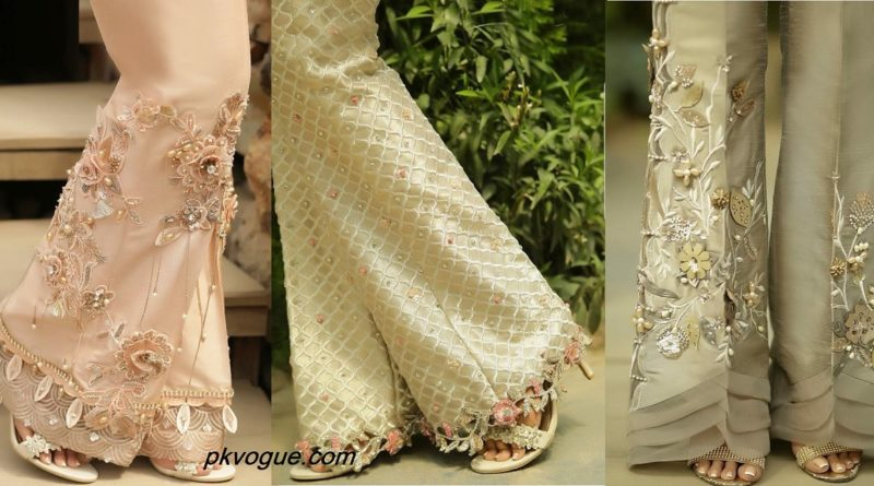 Latest Embroidered Trouser Designs For Girls In 2019 Pk Vogue