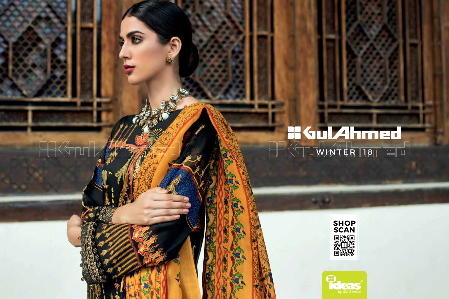 First Look Gul Ahmed Winter Collection 2018-19 - PK Vogue bfe5f4cb159