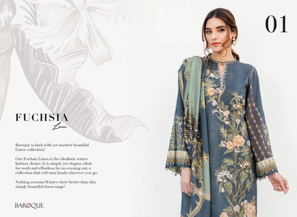 0299739bd3 ... complete catalog of latest Fuchsia Linen Collection For Winter 2019. Pk  Vogue also provide stitching facility for our beloved customers.