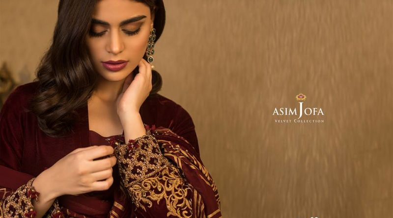 Asim Jofa Velvet Collection 2019
