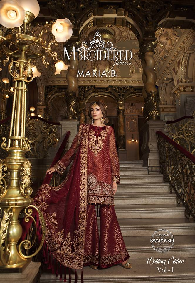 e5b220be75 MBROIDERED Wedding Edition 2018-19 By Maria-B - PK Vogue