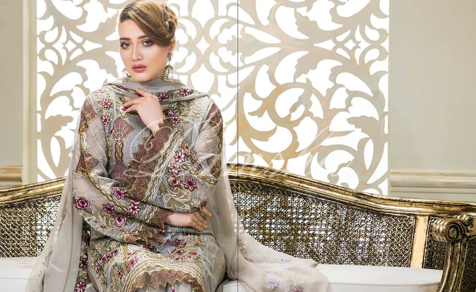 42660af7ce Perfection Glaze Embroidered Chiffon Collection By Ramsha – Online ...
