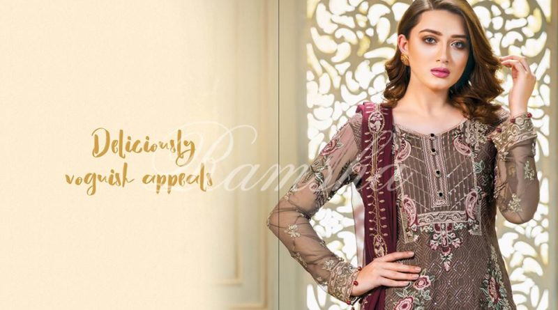 7fb03446be Perfection Glaze Embroidered Chiffon Collection By Ramsha - PK Vogue