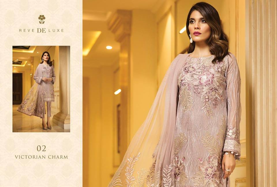 51f6d895e0 Gulaal Premium Embroidered Chiffon Collection 2019. The post Reve De Luxe  By Jazmin ...