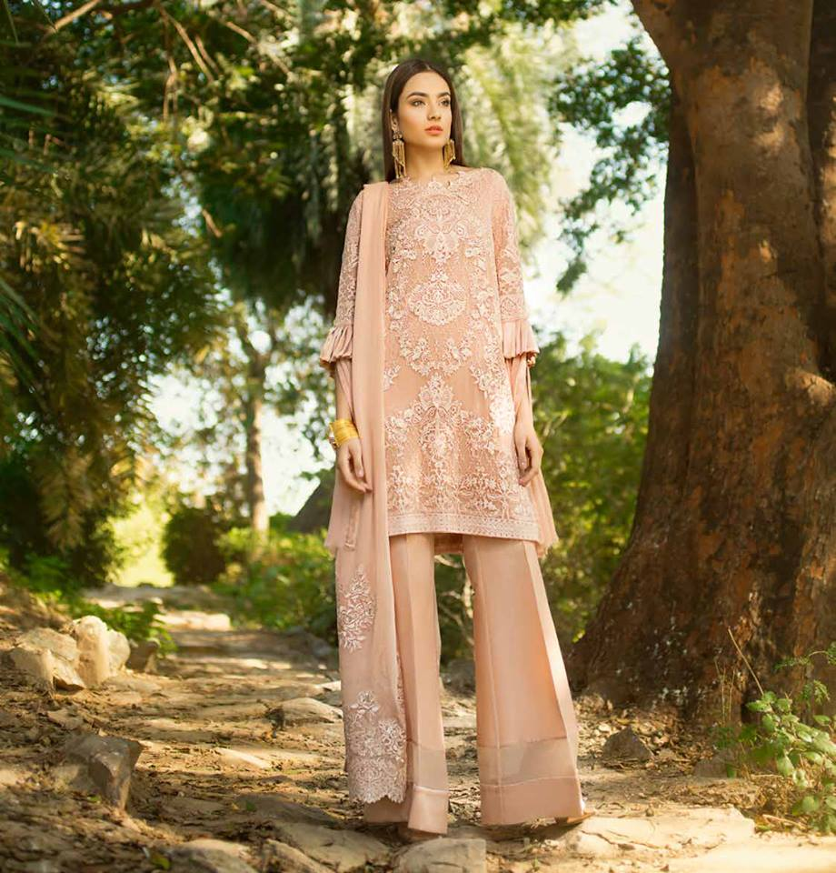 Honey Waqar Embroidered Chiffon 2019