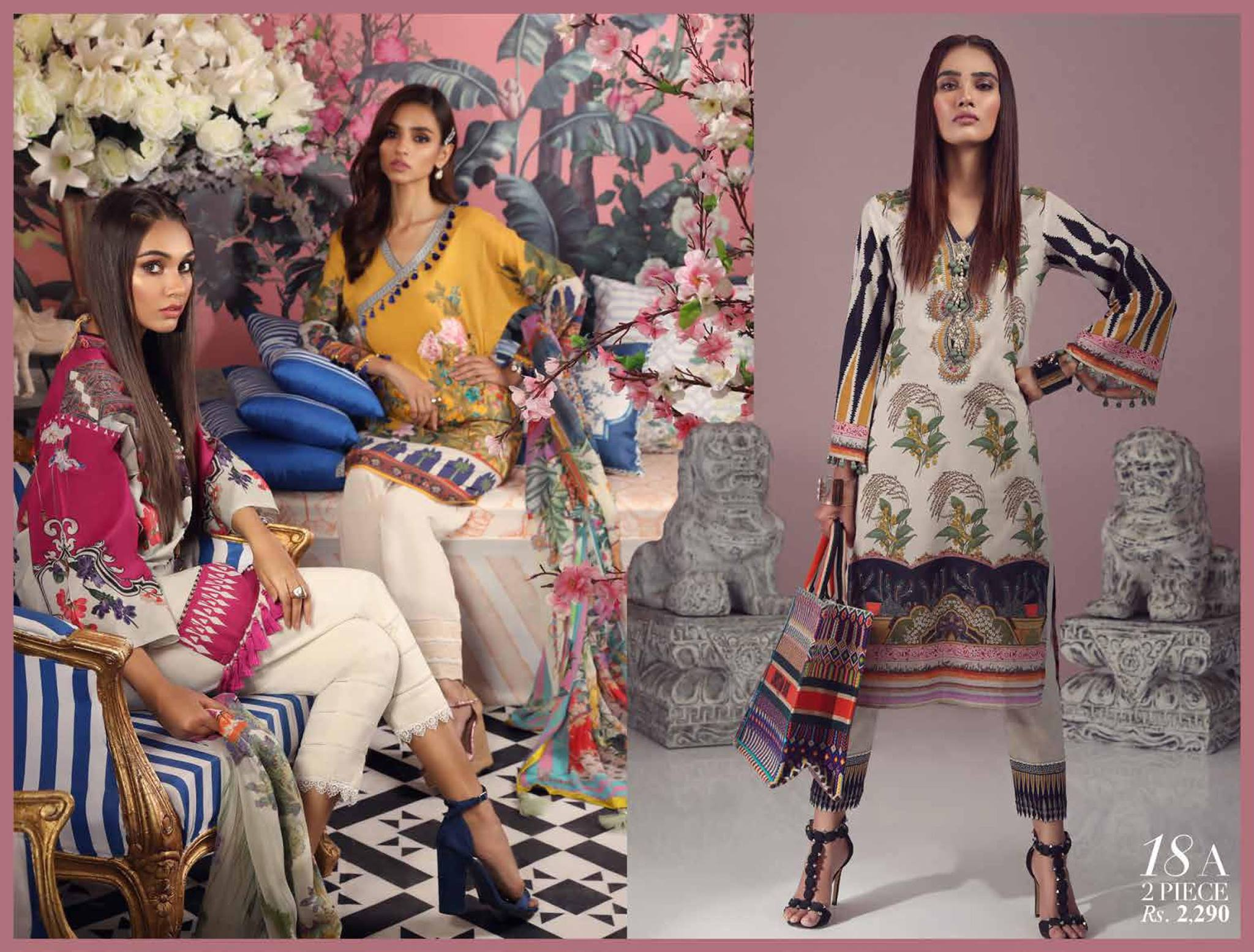 3a7187b270 Wrap yourself in this summer Muzlin Lawn 2019 featuring high quality lawn,  the softness of lawn complemented by the luxury of thread embroidery with  ...