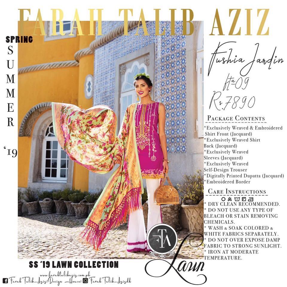 Farah Talib Aziz Lawn 2019