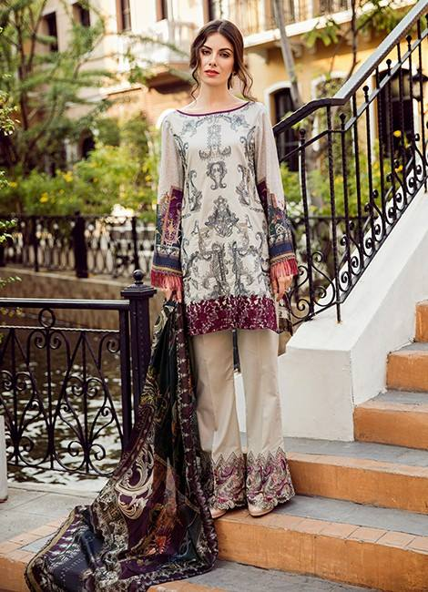 1c0f4279a1 Feel beautiful and invigorated in the embrace of nature with the Iznik  Premium Lawn Collection 2019 collection, exclusive from IZNIK.
